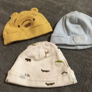 Set of 3 baby hats